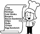 Menu Chef 4, Burger Van Stickers, Catering Trailer, Cafe, Catering.