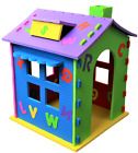 Childrens Rigid Playhouse Indoor Outdoor Kids Garden Play House  Wendy house <br/> quick assembly, Easy storage. Flat Packed 101x77.5x76cm