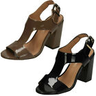 Anne Michelle F10645 Black Or Taupe Patent High Heel Sandals