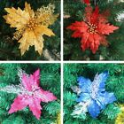 Flower Bloom Christmas Tree Hanging Decor Rattans Xmas Festival Ornament Party
