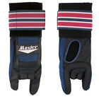 Внешний вид - MASTER DELUXE WRIST GLOVE RIGHT HANDED BOWLING GLOVE W/ SUPPORT BLUE/RED/BLACK