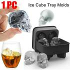 1X4 Skull Shape 3D Ice Cube Mold Maker Bar Party Silicone Tray Chocolate Tool US