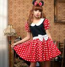 Super Cute Red Minnie Mouse Halloween Costume Adult Costume c/w hair band