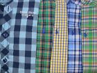 Boys Ralph Lauren Long Sleeve L/ S Button Down Shirt Sz 2 2T Plaid Green Blue