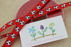 FABULOUS QUALITY Grossgrain 12mm LIVERPOOL RED FOOTBALL RIBBON