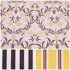 Oak 100% Cotton Distressed Look Panama Floral Stripe Matching Upholstery Fabric