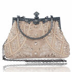 Women's Vintage Bead Sequined Evening Bag Wedding Party Handbag Clutch Purse