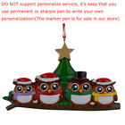 MAXORA Personalized Ornament Owl Family of 2 3 4 5 6  Christmas Gift