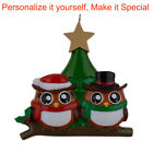 personalized family ornaments - MAXORA Personalized Ornament Owl Family of 2 3 4 5 6  Christmas Gift