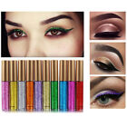Women Girls Glitter Liquid Eyeliner Shiny Smoky Eye Eyeshadow Waterproof Make up