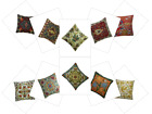 Handmade Indian Cushion Cover Woolen Embroidered Suzani Pillow Cases Boho Decor