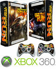 Xbox 360 Console Sticker Skin Need Speed Street Racing & 2 X Controller Skins
