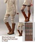 S/m M/l Boutique Thick Warm Sweater Knit Leggings - 3 Colors - Made In Usa