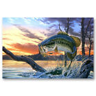 Bass Fishing Famous Art Canvas Poster Art Prints Picture 8x12 24x36 inch