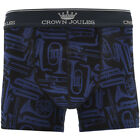Joules Mens Crwnjhorn Hand Drawn Elasticated Horn Printed Boxer Shorts