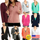 Внешний вид - Womens Classic Active Thin Cotton Hoodie Jacket Sweatshirt Zip-Up Zipper Hooded