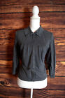 Free Poeple We The Free Womens Medium Charcoal Gray Lace Sleeve Career Blouse