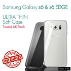 Samsung Thin S6 - S6 Edge Clear Soft Gel Transparent TPU Silicone Case Cover