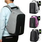 Anti-theft Unisex Laptop Backpack Travel School Bag USB Charger Port Fashion US