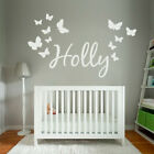 [WD101003E] Personalised Name Wall Art Sticker with Butterflies