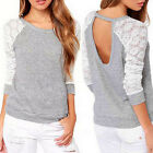 Fashion Women's Long Sleeve Loose Blouse Ladies Casual Shirt Summer Tops T-Shirt