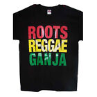 Roots Reggae Ganja US Screenprinted 100% Cotton T-Shirts  (MarTs121B ^)