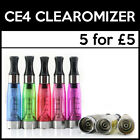 5X AUTHENTIC CE4 CLEAROMIZER VAPE TANKS | EGO | 1.6ML | ATOMISER | BARGAIN