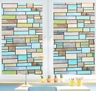 Niviy Privacy Window Covering Brick Stained Glass Window Film Waterproof Stat...