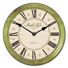 Carolina Green LARGE WALL CLOCK 10- 48 Whisper Quiet Non-Ticking WOOD HANDMADE