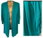 New Ann Harvey Green Teal Cardigan Plus Size 14 18 20 22 24 26 28 Longline