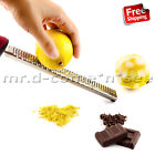Hand Grater Zester Stainless Steel Citrus Lemon Cheese Ginger Chocolate Food New