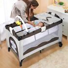 Baby Crib Playpen - Pack n Play Travel Infant Bassinet Bed Foldable
