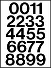 Sheet of 2 Inch Vinyl  Street Address Mailbox Number REFLECTIVE Stickers Kit