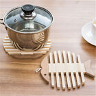 Внешний вид - Wooden Insulation Mat Kitchen Dining Table Placemat for Teapot Coffee Mugs Cups