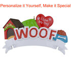 MAXORA I Love My Dog Woof Personalized Christmas Tree Ornament Holiday Gift