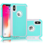 For Apple iPhone X Phone Case Shockproof Hybrid Soft Rubber Armor Hard Cover