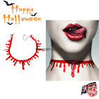 Halloween Blood Dripping Choker Blood Chain Necklace Gothic Horror Creepy Collar