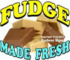 Fudge Made Fresh DECAL (Choose Your Size) Food Truck Sign Concession Sticker