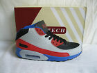 Air Tech Hype Men's Red/Grey/Black/Blue High Top Lace Up Trainers (R34A)(Kett)