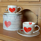 Cappuccinotassen Espressotasse Herz Wood Set Heart of Wood Tasse Kaffee 4-tlg