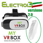 MY VR BOX 2.0 OCCHIALI REALTà VIRTUALE 3D VIRTUAL REALITY + GAMEPAD BLUETOOTH