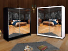 Sliding Door Full Mirror Wardrobe QUEEN with LED 150cm / 200cm - Fast Delivery