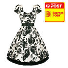 Hearts and Roses RK239 Black and White Pin Up Dress