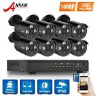 ANRAN 1080P HD 4CH/8CH POE NVR 2MP Outdoor CCTV Security Camera System IR Cut