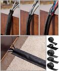 Cable Wrap Sleeve Durable Hook  Loop / Zipper / Floor Polyester Cord Management