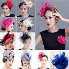 Lot Sinamay Fascinator Flower Hair Clip Wedding Brooch Lady Derby Ascot Races