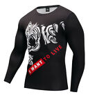 3D Printed T-shirts Men Compression Shirts Long Sleeve Funny Fitness Body Male