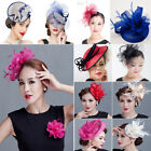 Lot Fascinator Flower Derby Headpiece Hat Hair Clip Wedding Ascot Races Brooches