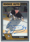 2016-17 16 17 O-Pee-Chee Platinum Dominik Simon Rookie Autograph Group C 1:318