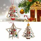 Xmas Tree Pendants Hanging Wooden Christmas Decoration Home Party Decor